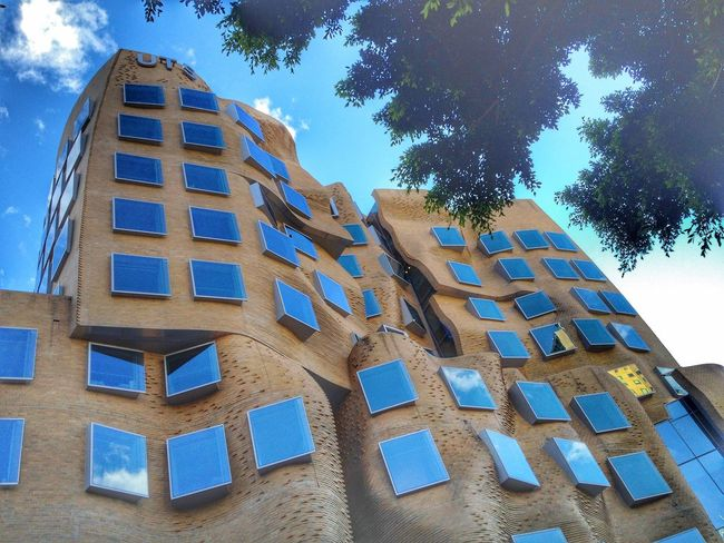 Uts University Of Technology, Sydney Architecture City Sky Tree Window Day Outdoors University Campus Sydney Iphoneography Sydney Photography No People Frank Gehry Sydney, Australia Low Angle View Building Exterior Built Structure Frank Gehry Building EyeEmNewHere The Graphic City The Architect - 2018 EyeEm Awards