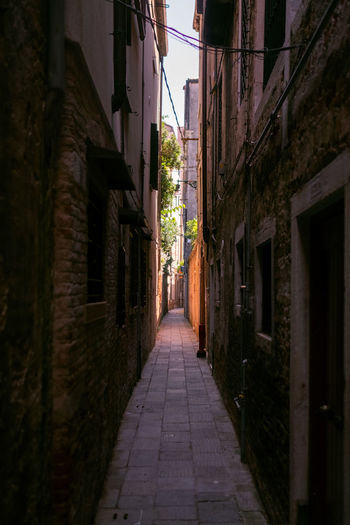 Architecture Built Structure The Way Forward Building Exterior Direction Building Narrow City Alley Footpath Street Residential District Diminishing Perspective No People Outdoors Nature House Empty Day Wall Long