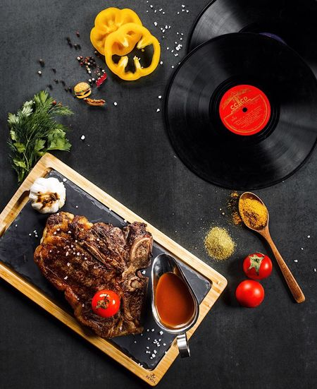 Food And Drink Food High Angle View Still Life Arts Culture And Entertainment Table No People