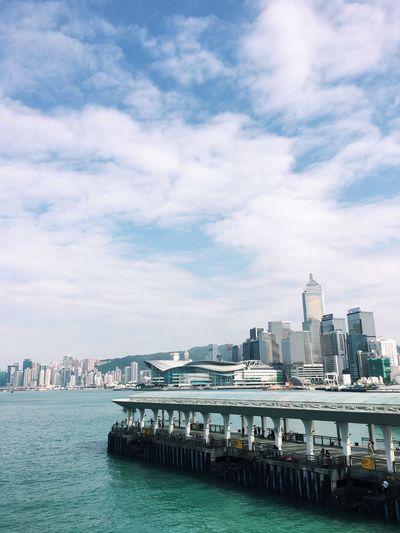 Built Structure Architecture Cloud - Sky City Skyscraper Cityscape Sea Pier Harbor Harbour