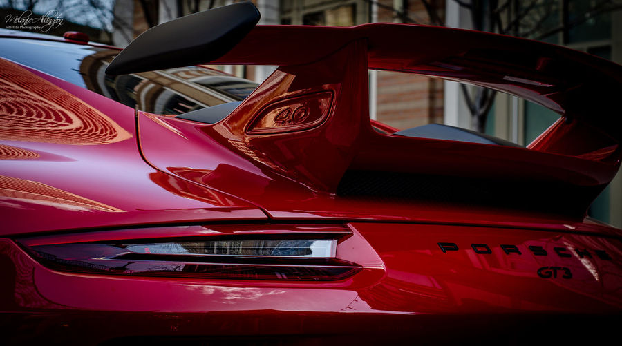 red porsche gt3 NewToEyeEm EyeEm Best Shots EyeEmNewHere Porsche 911 Porsche GT3 Reflection Car Close-up Day Land Vehicle Luxury Mode Of Transportation Motor Vehicle Outdoors Red Reflection Retro Styled Transportation Vintage Car Wealth