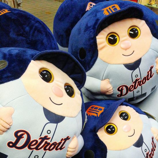 Detroit Michigan Hanging Out Relaxing Toys Faces Stuffed Animals Stuffed Toy Plush Baseball Detroit Tigers