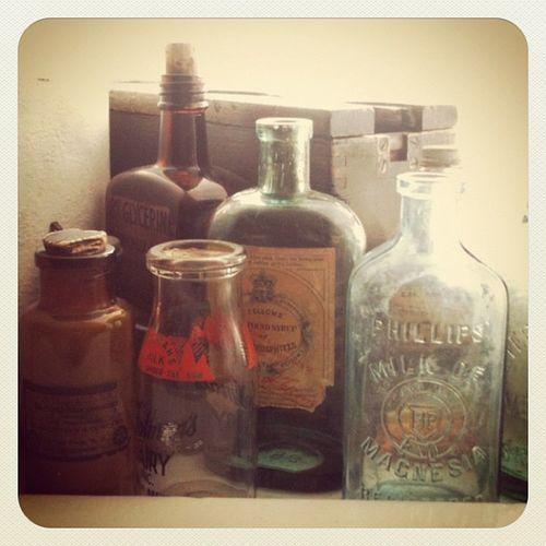 {instagram post} old-timey bottles at b&b
