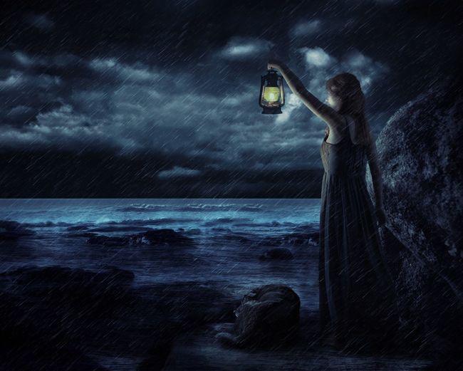 Night Sky Water