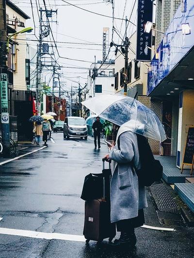 City Life Street City City Life Tokyo Street Photography Streetphotography Raining Day Rainy Evening Rainy Afternoon. Rainymood Umbrella Street EyeEmNewHere Mobility In Mega Cities