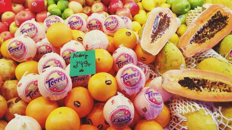一堆进口水果