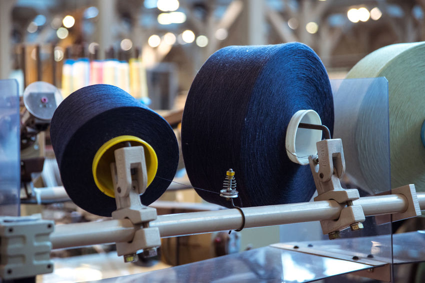 At the Toyota Museum in Nagoya, Japan Air Jet Machine Blue Close-up Equipment Focus On Foreground Loom Machinery Manufacturing Selective Focus Sewing Spool Sewing Thread Spool Spool Of Thread Tailored To You Textile Textile Industry Textile Machinery Weaving Loom Weaving Machine Ultimate Japan