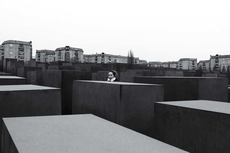 Holocaust Memorial Berlin Blackandwhite Grey Sky Historical Sights Turisteando