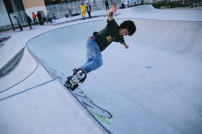 Balance Enjoyment Extreme Sports Full Length Fun Leisure Activity Lifestyles Motion Real People Recreational Pursuit RISK Skate Skate Life Skateboard Skateboard Park Skateboarding Skateday Skatelife Skatepark Skating Skill  Sport Sports Ramp Stunt Youth Culture
