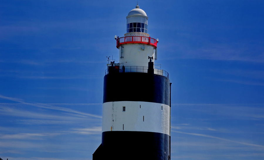 Architecture Blue Building Exterior Built Structure Day Direction Guidance Hook Head, Ireland Lighthouse No People Outdoors Sky Tower