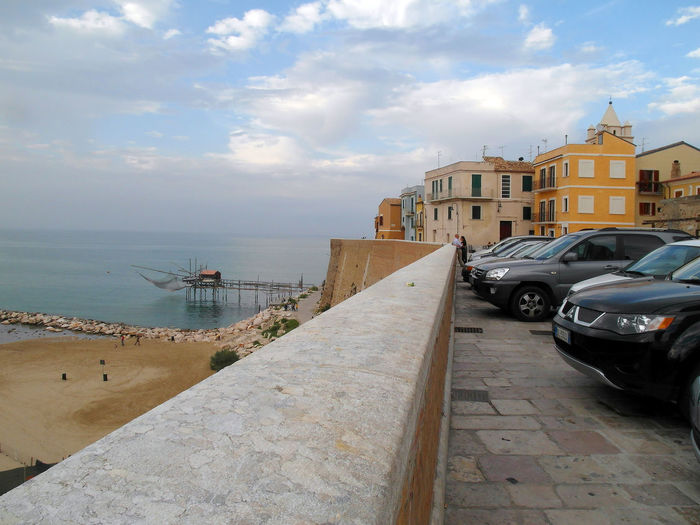 Term the beach and the trabucco Termoli  Wall Architecture Beach Building Exterior Buildings Built Structure Car City Cloud - Sky Horizon Over Water Italy Land Vehicle Landscape Mode Of Transport Molise Outdoors Parked Sea Sky Termoli City Trabucco Transportation Urban Landscape Water