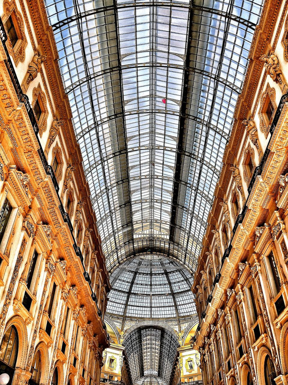 architecture, indoors, ceiling, built structure, retail, roof, travel destinations, low angle view, day, dome, no people