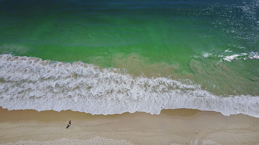 Aerial view over clear blue ocean and a white sandy beach. Aerial View Baywatch Beauty In Nature Dorne Drone  Ocean Pacfic Ocean Sand Sea Summer Turqouise Water View From Above We Western Astra