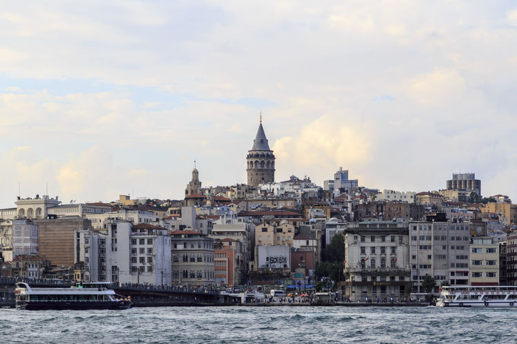 Architecture Building Exterior Built Structure Capital Cities  City Cityscape Façade Famous Place Galata Tower History International Landmark Istanbul Turkey Outdoors Place Of Worship Residential District Travel Destinations