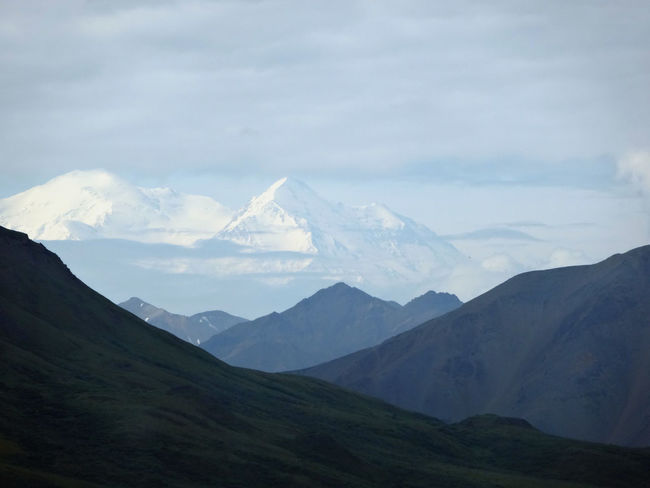 Alaska Day Denali Denali National Park Fog Foggy Geology Hiking Hill Landscape Majestic Mountain Mountain Range Mt McKinley Non-urban Scene Outdoors Physical Geography Remote Trip Valley Landscapes With WhiteWall Snowcapped The Great Outdoors With Adobe