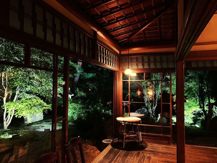hashimoto kansetsukinenkan Japan Garden Museum Kyoto Seat Day No People Plant Tree Window Wood - Material