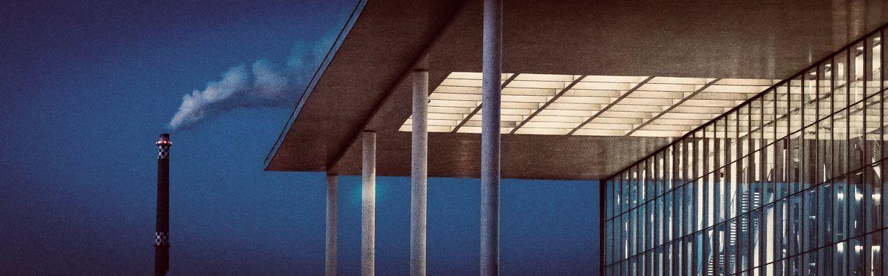 Building Exterior Paul Löbe Haus Bundestag Berlin Chimney Glass Window Column No People Sky Architecture Outdoors Blue