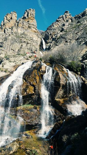 Waterfall Outdoors Sky Waterfall Water Low Angle View Nature Nature_collection Hiking Landscape