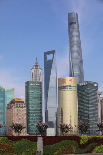 Shanghai Skyline Built Structure Architecture Building Exterior Sky Building Office Building Exterior Modern Skyscraper Tall - High No People Tower Travel Destinations Financial District