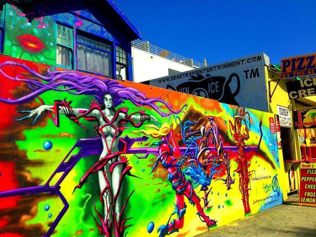 Wall Art Losangeles California Santa Monica Venice Beach Writing On The Walls