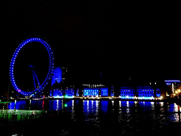 Seeing The Sights London London Eye Night Lights Night Photography City