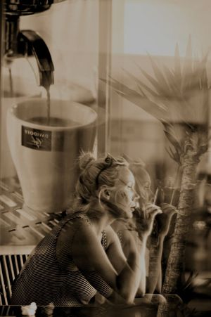 Coffee Time Smoking Woman Portrait Reflections Non Helty Life Pause Popular Art Mirror Reflection