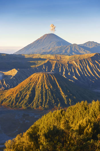 Beautiful sunrise scenery at Mount Bromo, Indonesia Beauty In Nature Bromo Mountain Day Environment Formation Geology Idyllic Land Landscape Mountain Mountain Peak Mountain Range Nature No People Non-urban Scene Outdoors Physical Geography Plant Scenics - Nature Sky Tranquil Scene Tranquility Travel Destinations Volcanic Crater Volcano