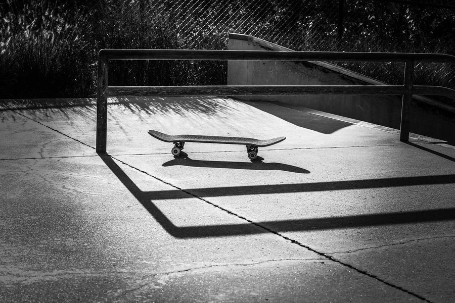 Skateboard Skate Park JGLowe Concrete Fun Shadow Sunlight Nature Day High Angle View City No People Outdoors Transportation Sunny Footpath