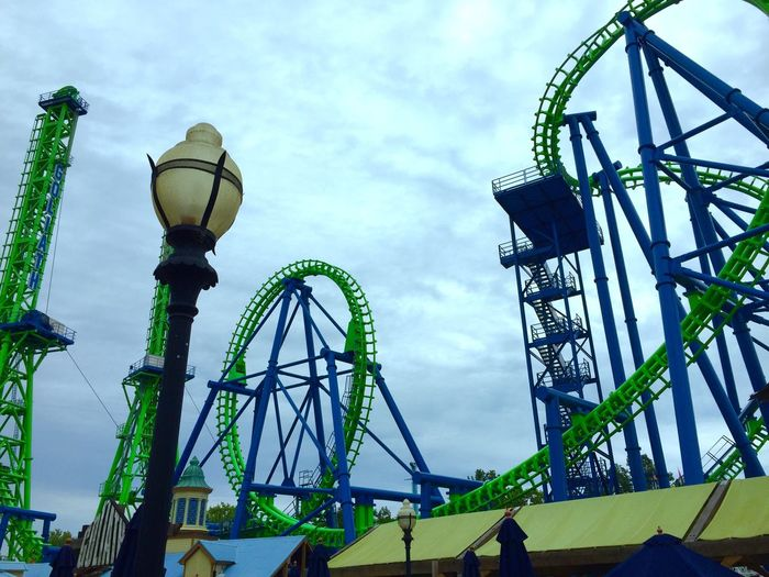Roller Coaster Awesome Insane Green Green Green!  Clouds