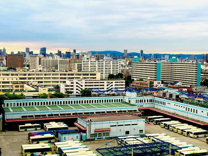 Morring Cloud IPhoneography Summer Nopeople Eyemphotography City View  Bilding buscenter Osaka,Japan EyeEm Busterminal