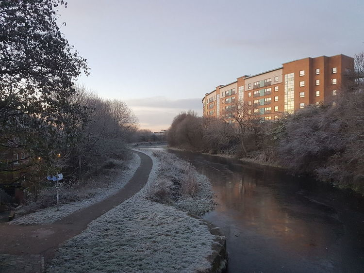 #Glasgow #Morning #frozenlake #winter #wonderLand Architecture Nature Outdoors Sky Water