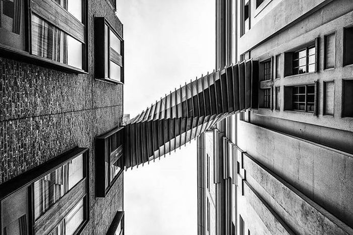 Twist Bridge London City Architecture Connected Coventgarden Blackandwhite Mono