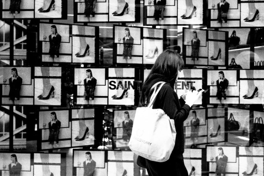 One Person One Woman Only Women Choice Fashion People Lifestyles Real People Film Photography Film 35mm Streetphotography Street Photography Tokyo Street Photography Blackandwhite Monochrome Photography Monochrome Light And Shadow EyeEm Best Shots Capture The Moment
