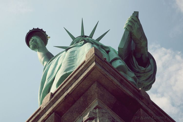In a somewhat different way. Statue of Liberty.