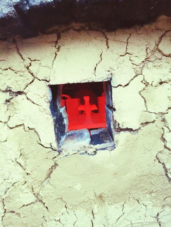 Kreuz im Töpferofen