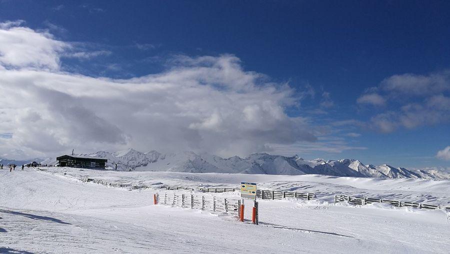 Snow Full Length Mountain Cold Temperature Adventure Togetherness Walking Sky Landscape Cloud - Sky Ski Lift Ski Resort  Ski Holiday Skiing Ski Track