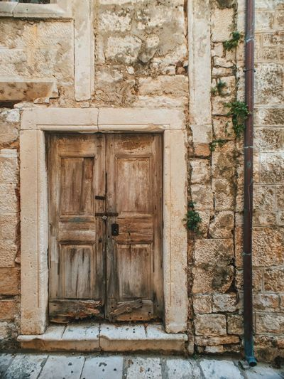 Architecture Building Exterior Built Structure Close-up Closed Croatia Day Deterioration Door Exterior Façade Full Frame Korculaoldtown Korčula No People Old Outdoors Residential Structure Wood Wood - Material Wooden