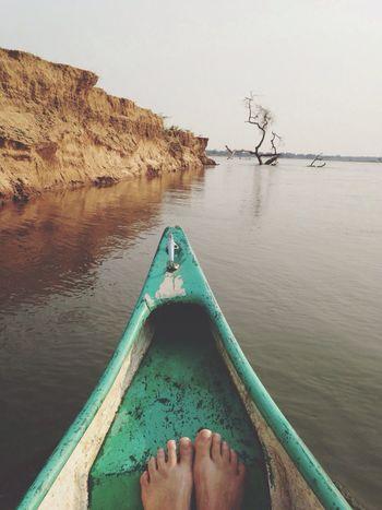 Zambezi River WeAreJuxt EyeEm Nature Lover NEM Memories cruising on canoes close to the edge, on edge, avoiding hippo and crocs! Yeah!