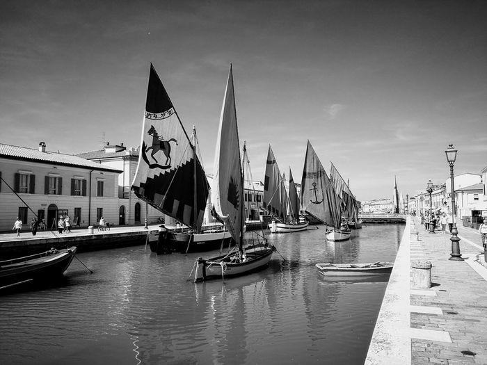 Porto canale di Cesenatico Cesenatico Porto Canale Mare Spiaggia Sea And Sky Boats⛵️ Canal Leonardo Da Vinci Gondola - Traditional Boat Nautical Vessel City Cityscape Sky Architecture Building Exterior