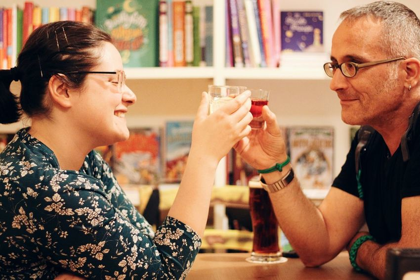 Friendship Young Women Eyeglasses  Togetherness Drink Women Men Alcohol Happy Hour Happiness Drinking Straw Celebratory Toast Cocktail Party Rose Wine Cocktail Couple Champagne Ice Tea White Wine Wineglass Sommelier Tropical Drink Rum Martini Glass