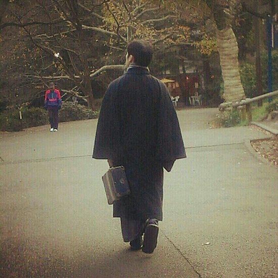a man in old fashion Inokashira Tokyo Japan