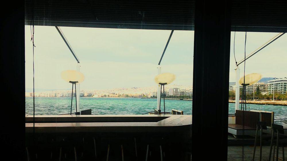 Blue Marlin Skg Thessaloniki Coffee Time Coffee ☕ Enjoying Life Relaxing Happy 🌊☕🍪🍩😄😄