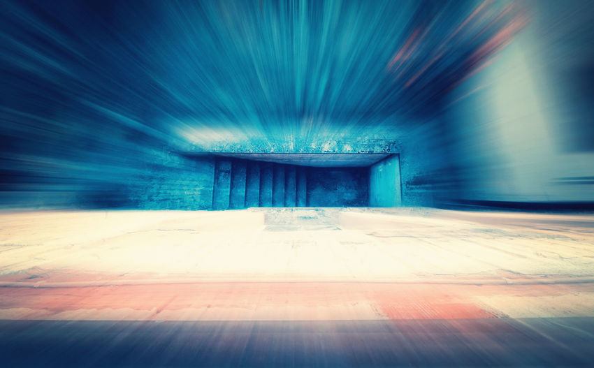 Digital composite image of empty tunnel