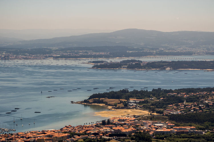 Ria de Arousa, Galicia Ria De Arousa Galicia SPAIN España Atlantic Atlantic Ocean Scenics - Nature Sky Day No People Beauty In Nature Outdoors Water City Architecture Building Exterior High Angle View Mountain Built Structure Environment Sea Cityscape Town Land Bay TOWNSCAPE