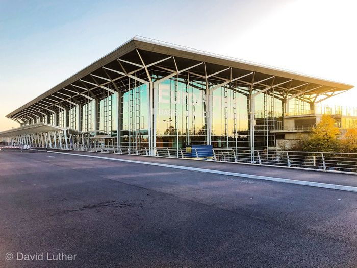 BSL Basel Bsl Europort Airport Built Structure Architecture Sky Transportation No People Day Sunlight Building Exterior Asphalt Metal Clear Sky City