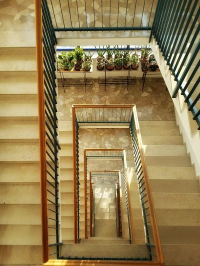 Golden Stairs Leading Lines Geometric Architecture Squared Spirals Marble Pavements And Steps Stone Textures Looking Down Reflections And Shadows Pattern Pieces