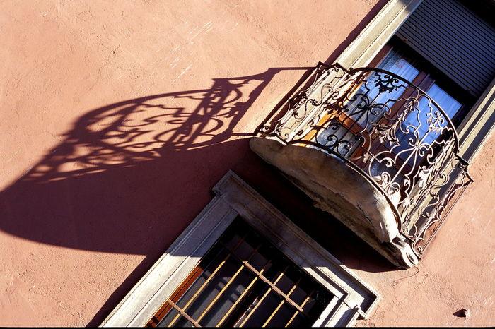 Balcony Façade Iron Balcony Iseo Italy Railings Shade Shadow Window