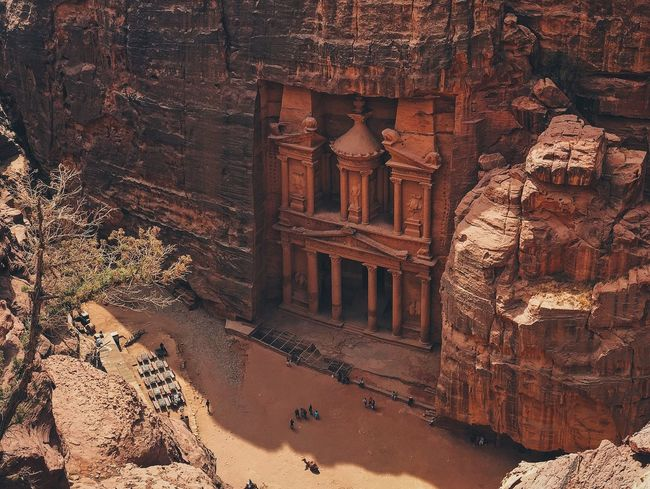 From atop... awe-inspiring 7 Wonders Of The World Ancient Architecture Built Structure Day History Jordan Nature No People Outdoors Petra Rock Rock - Object Rock Formation The Past Tourism Tranquility Travel Destinations