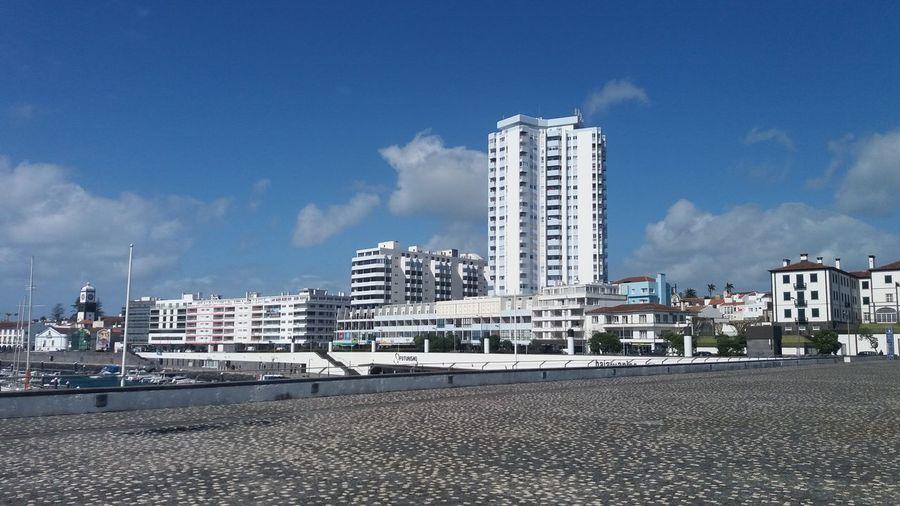 Azores Architecture City Perspective Ponta Delgada, Flores Island, Azores Sky And Clouds Blue Blue Sky Building Skyporn Sun