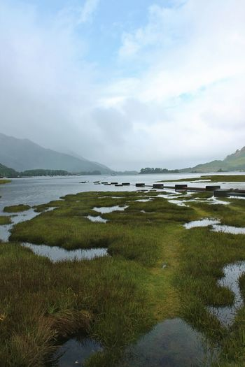 Water Landscape Scenics Sea Outdoors Tranquility Travel Destinations Vacations Cloud - Sky Beauty In Nature Day Horizon Over Water Beach Low Tide Fog Rural Scene Nature No People Sky Loch  Glencoe Scotland Glencoe